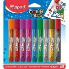Adeziv lichid glitter 9 tuburi, 10,5ml/tub, Color Peps Maped