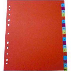 Separatoare plastic A4 A-Z color, Optima