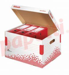 Container arhivare bibliorafturi, cu capac, 334x301x392 mm, Speedbox Esselte
