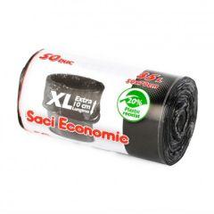 Saci menajeri negri, 35L, 50x70cm, 50buc/rola, XL economy Oti