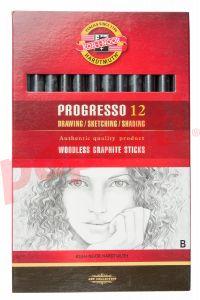 Creion grafit fara lemn, B, 12buc/cutie, Koh-I-Noor