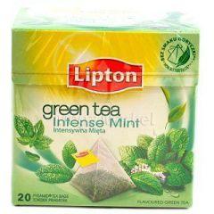 Ceai verde cu menta, 20plicuri/cutie, Lipton Pyramid