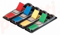 Index autoadeziv cu dispenser, 4x35 file/set, 12mm x 43mm, transparent color(rosu, albastru, galben,