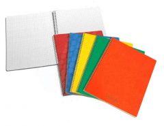 Caiet cu spira A5, 60file, matematica, coperta carton color, Aurora Bur-o-Class