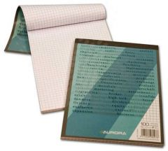 Blocnotes capsat A5, 100file, matematica Aurora Office