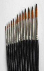 Pensula nr.12 pt. acuarela, par sintetic, varf rotund, T2000