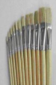 Pensula nr.7 pt. ulei, par porc, varf drept, T2000