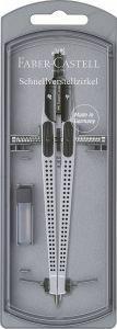 Compas Quick-Set Grip 2001, argintiu, Faber Castell-FC174472