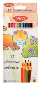 Creioane colorate 12culori/set, CC312H, Daco