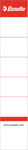 Etichete albe pentru biblioraft 5cm, 158x30mm, 10/set Esselte