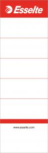 Etichete albe pentru biblioraft 7,5cm, 158x50mm, 10/set Esselte