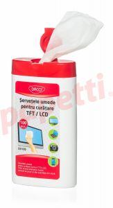 Servetele curatare monitor, umede, 100buc/set, Daco