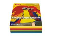 Carton color asortat 10 culori intens, A4, 160g/mp, 250coli/top, Daco