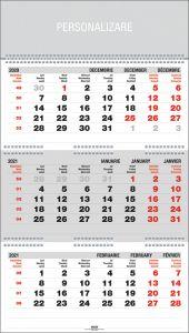 Calendar triptic de perete, pliat, 33cm x 48cm, EGO