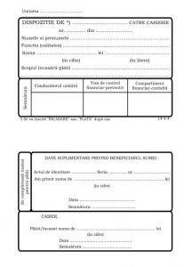 Dispozitie de plata catre casierie autocopiativa A5, 2ex, alb/color
