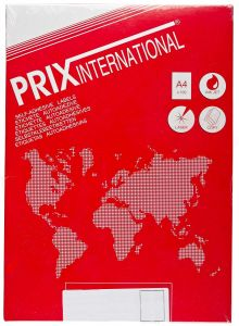Etichete autoadezive color 8/A4, 97x68mm, colt rotunjit, 100coli/cutie, rosu, Prix