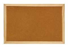 Panou pluta, rama lemn, 60cm x 90cm, Optima