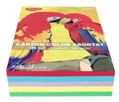 Carton color asortat 5 culori intens, A4, 160g/mp, 250coli/top, Daco