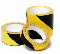 Banda adeziva marcare, PVC galben/negru, 48mm x 33m, STP