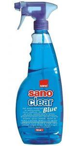 Detergent cu pulverizator pt geamuri, oglinzi, obiecte ceramica, portelan, 750ml, Clear Blue Sano