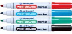 Whiteboard marker 4 culori/set, varf 3,0 mm, Centropen 8559