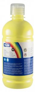 Tempera pe culoare, tub 500ml, galben deschis, Milan