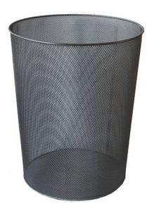 Cos metal pentru gunoi, negru, Mesh Ecada