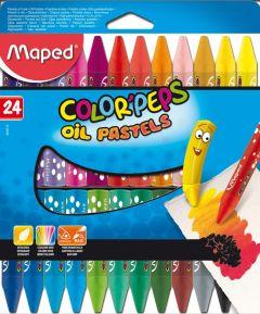 Creioane colorate cerate pe baza de ulei, 18culori/set, Color Peps Oil Pastels Maped