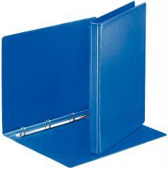 Caiet mecanic A4, 4 inele, albastru, cotor 30mm, cu buzunar pe prima coperta, Panorama Esselte