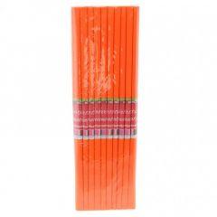 Hartie creponata, portocaliu, 50cmx200cm, Daco