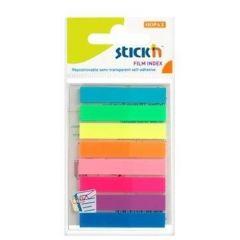 Index autoadeziv plastic, 8x20file/set, 45mm x 8mm, transparent color, Stick'n