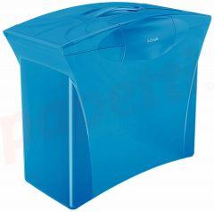 Suport plastic cu capac, pentru dosare suspendabile, albastru Vivida Europost Esselte