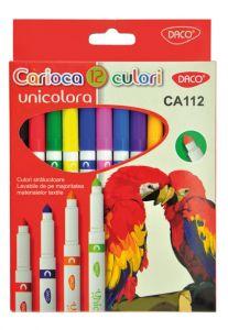 Carioca 12 culori/set Unicolora, CA112 Daco