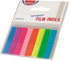 Index autoadeziv plastic, 8x20file/set, 45mm x 8mm, transparent color, Noki
