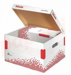 Container arhivare cutii de arhivare, cu capac M, 367x263x325 mm, Speedbox Esselte
