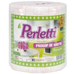 Prosop hartie alb cu imprimeu, 2 straturi, 78ml, Perletti/Mister Point