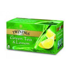 Ceai Twinings verde cu lamaie, 25plicuri/cutie