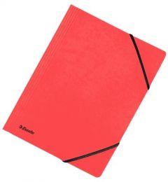 Mapa din carton cu elastic A4, rosu, Rainbow Esselte