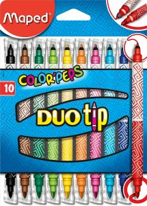 Carioca 2 varfuri, 10culori/set Color Peps Duo Tip Maped