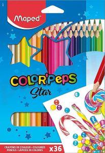 Creioane colorate 36culori/set, Color Peps Star Maped