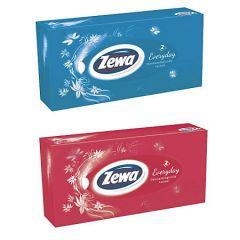Servetele faciale in cutie, albe, 2 straturi, 100 buc/set, Zewa
