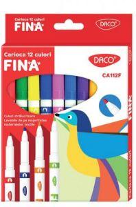 Carioca 12 culori/set Fina Daco