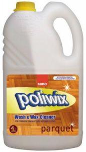 Detergent cu ceara pentru suprafete din lemn si alte suprafete delicate, 4L, Poliwix Parquet Sano