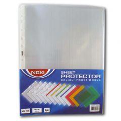 File de protectie A4, cristal, transparente, 75 mic, 100/set, Noki