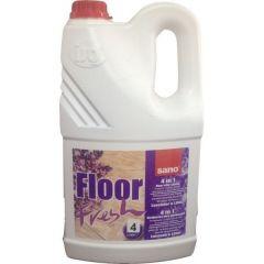 Detergent concentrat, pentru orice tip de pardoseli, 4L, Floor Fresh Liliac Sano