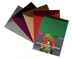 Carton color oglinda, asortat 5 culori, A4, 270g/mp, 10coli/top, Daco