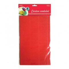 Carton color ondulat, asortat 5 culori, A4, 5coli/top, Daco