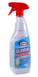 Detergent cu pulverizator ptr. geamuri, oglinzi, anti-aburire 750ml, transparent, MSV