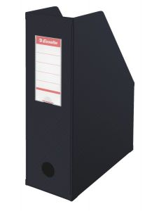 Suport vertical carton plastifiat negru Esselte