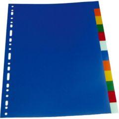 Separatoare plastic color 6/A4, Optima